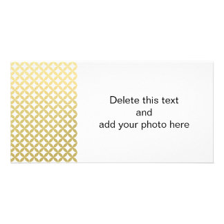 Gold Foil White Diamond Circle Pattern Card