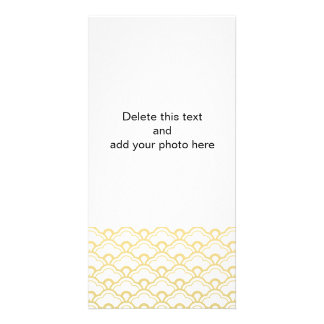 Gold Foil White Scalloped Shells Pattern Photo Cards