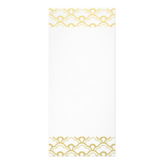 Gold Foil White Scalloped Shells Pattern Rack Card
