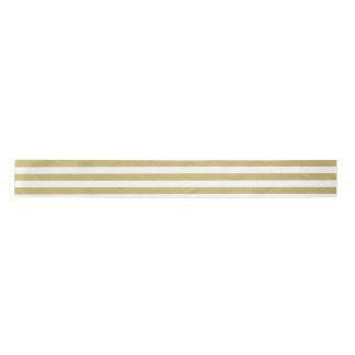 Gold Foil White Stripes Pattern Blank Ribbon