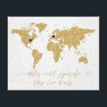 "Gold Foil World Map Miles Can&#39;t Separate Canvas Print<br><div class=""desc"">Gold Foil World Map Miles Can&#39;t Separate these two hearts Long Distance Relationship Canvas print with hearts and connecter - they can be moved and positioned wherever needed (for closer or longer connections reduce or enlarge the size of the connecter to make it work) Miles can&#39;t separate these two hearts...</div>"