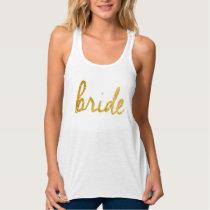 Gold Foild Bride Tanks