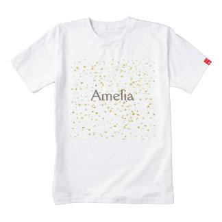 Gold foile confetti,pattern,white,chic,elegant,fun zazzle HEART T-Shirt