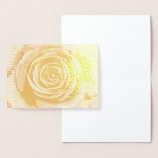 Gold-Foiled Rose Foil Card