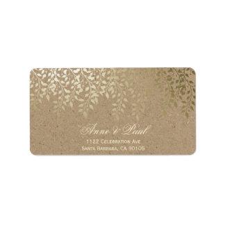 Gold foliage Address Labels