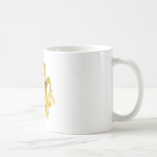 Gold Football Brazil Coffee Mug