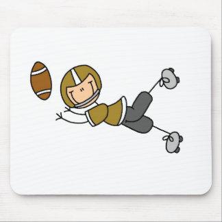 Gold Football Player Mousepad