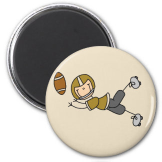 Gold Football Player Tshirts and Gifts 2 Inch Round Magnet