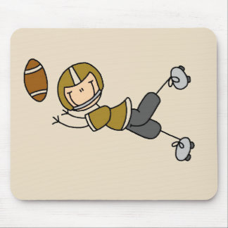 Gold Football Player Tshirts and Gifts Mouse Pad