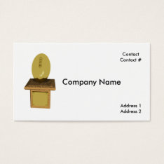 Gold Football Trophy Business Card at Zazzle