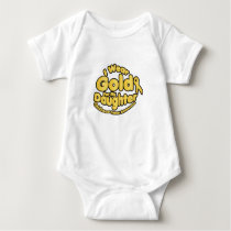 Gold For My Daughter Childhood Cancer Awareness Baby Bodysuit