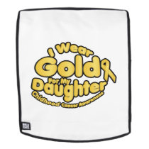 Gold For My Daughter Childhood Cancer Awareness Backpack