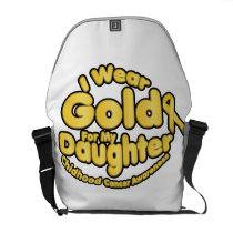 Gold For My Daughter Childhood Cancer Awareness Courier Bag