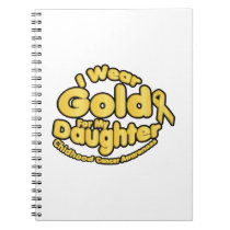 Gold For My Daughter Childhood Cancer Awareness Notebook