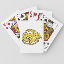 Gold For My Daughter Childhood Cancer Awareness Playing Cards