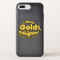 Gold For My Daughter Childhood Cancer Awareness Speck iPhone Case