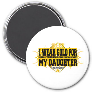 Gold for my Daughter Tribal 3 Inch Round Magnet