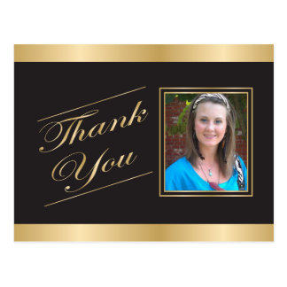 Gold Formal Thank You Postcard