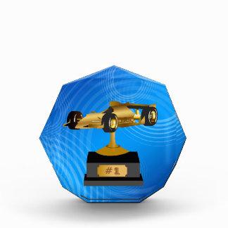 Gold Formula Race Car Trophy Award