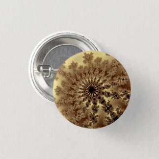 Gold Fractal Burst Small Button