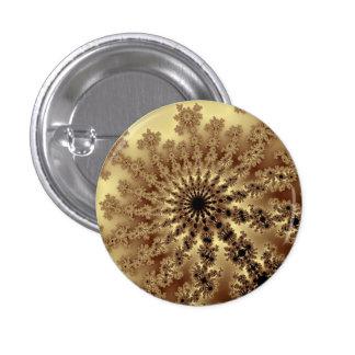 Gold Fractal Burst Small Round Button