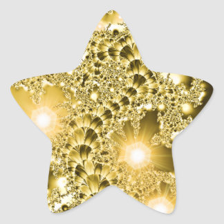 Gold Fractal Floral Vine Lights Sticker