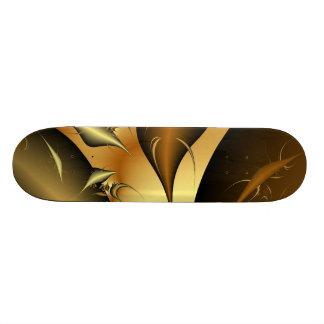 Gold Fractal Skateboard Deck