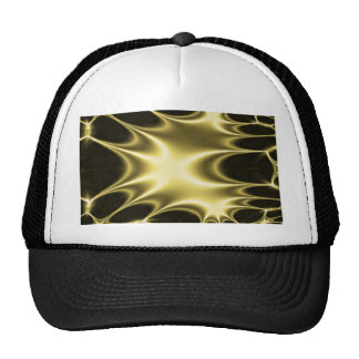 Gold Fractal Starpunk Trucker Hat