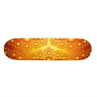 Gold Fractal: Vector Art: Custom Skateboard