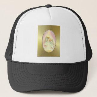GOLD FRAME & ANGELS by SHARON SHARPE Trucker Hat