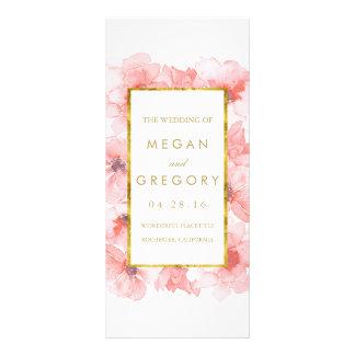 Gold Frame Blush Floral Wedding Programs