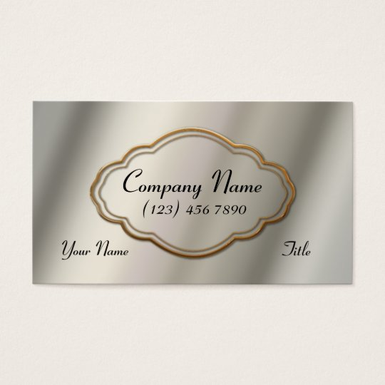 Gold Frame Business Card