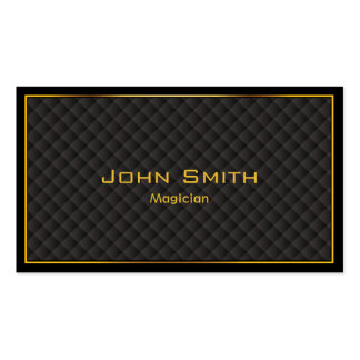 Gold Frame Diamond Grids Magician Double-Sided Standard Business Cards (Pack Of 100)