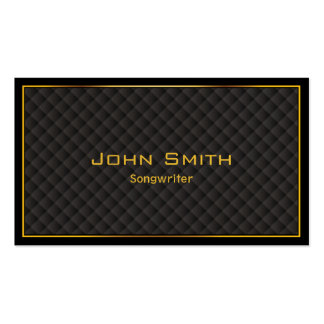 Gold Frame Diamond Grids Songwriter Business Card