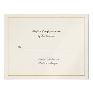 Gold Frame reply cards