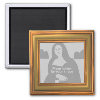 Gold Frame Template 2 Inch Square Magnet