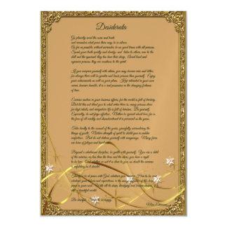 Gold Framed Desiderata Poem Magnet Magnetic Card
