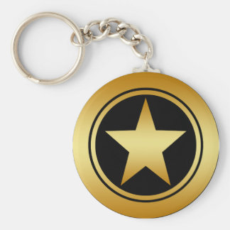 GOLD FRAMED STAR KEYCHAIN