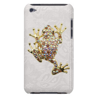 Gold Frog Jewel Photo Paisley Lace iPod Touch Case
