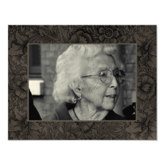 Gold Funeral Remembrance Death Notice Photo Card
