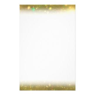 Gold Galactic Glitter Custom Stationery