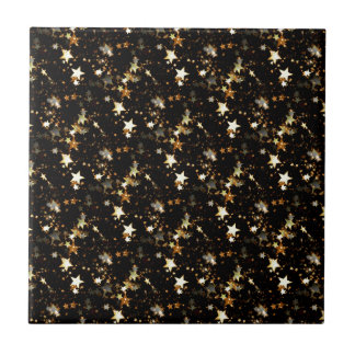 gold galaxy ceramic tile