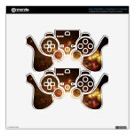 Gold Galaxy Decal For PS3 Controller