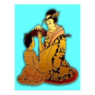 Gold Geisha Post Card
