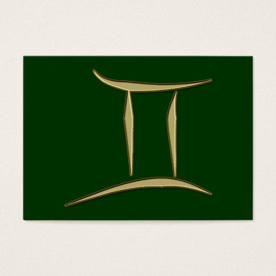 gold gemini business card
