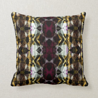 Gold & Gemstones Patterned Throw Pillow