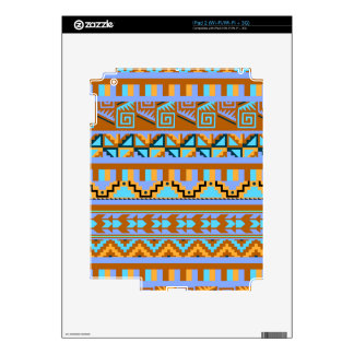 Gold Geometric Abstract Aztec Tribal Print Pattern Decal For The iPad 2