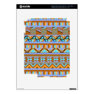 Gold Geometric Abstract Aztec Tribal Print Pattern iPad 3 Decal