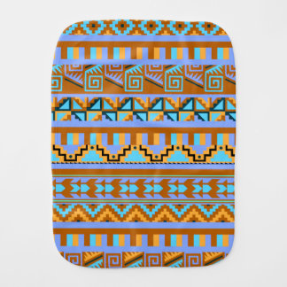 Gold Geometric Abstract Aztec Tribal Print Pattern Baby Burp Cloths