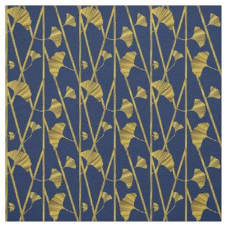 gold ginkgo fabric